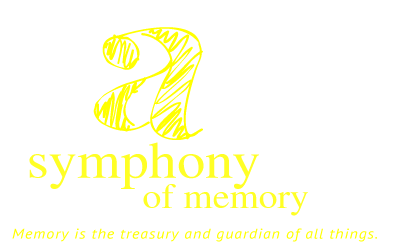 a symphony, Memory is the treasury and guardian of all things.